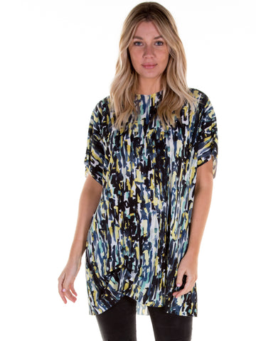 Lime Portia Hitched T-Shirt Dress