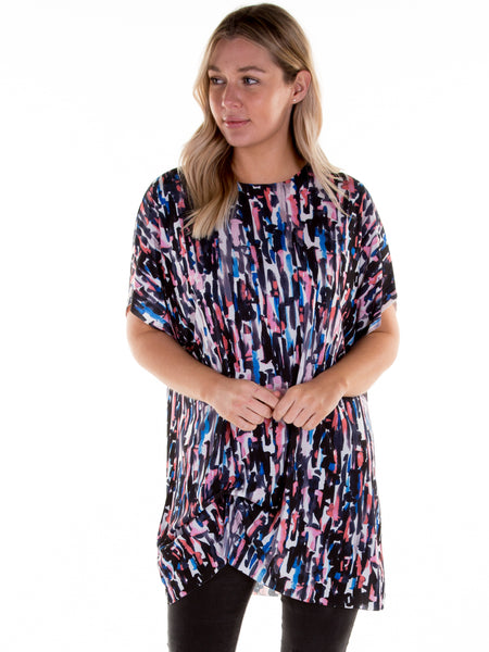 Coral Portia Hitched T-Shirt Dress