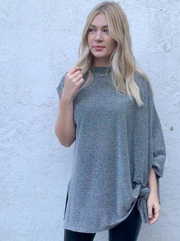 Silver Shimmer Saint Top