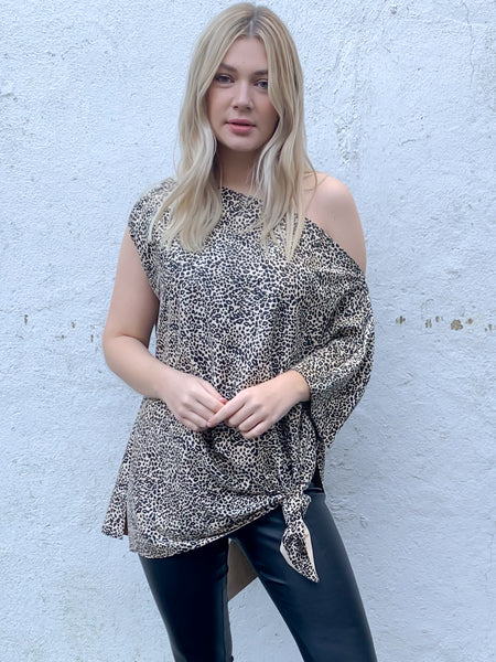 Leopard Print Saint Top
