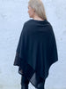 Black Sequin Poncho