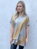 Gold and Silver Hitched T-Shirt Dress