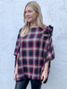 Maroon and Cream Tartan Ruffle Cape