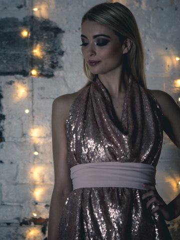 Rose Gold Sequin Alice Maxi Top