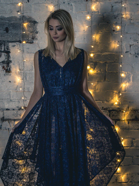 Navy Lace Valentina Dress