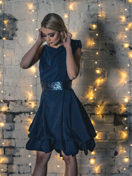 Navy Embellished Mia Dress