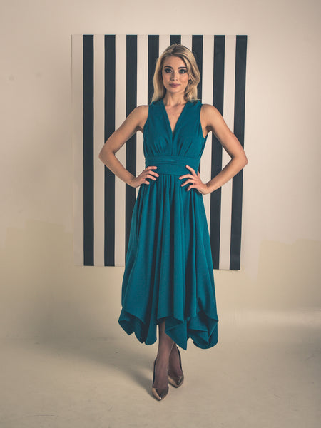 Teal Darcy Dress