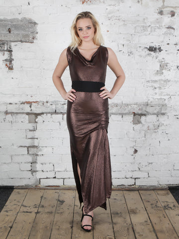 Bronze and Black Sequin Willow Dress