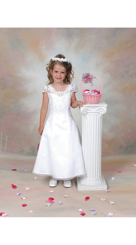 Organza Communion Dress White size 12