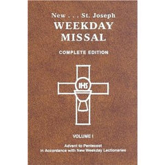 St Joseph Weekday Missal Complete Edition Vol I - Advent to Pentecost (Black Leather with Zipper)