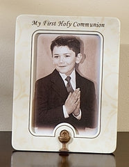 First Communion photo frame vines and branches