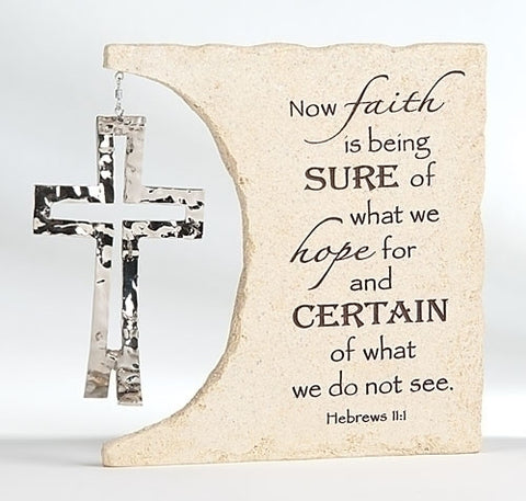 Scripture Table Plaque With Dangle