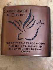 Confirmed in Christ Pewter Plaque