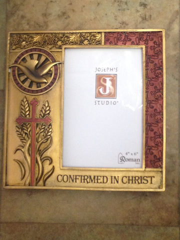 Confirmed in Christ Golden Frame