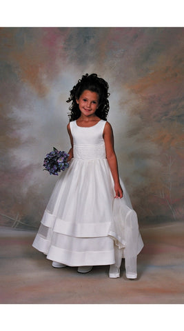 First Communion Dress with Long Sleeve Organza Jacket White Size 8
