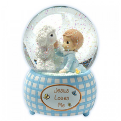 Jesus Loves Me - Boy Musical Water Globe