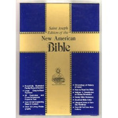 The New American Bible - Saint Joseph Edition (White bonded leather/Gold edges)