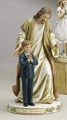 First Communion Statue Jesus with Praying Child