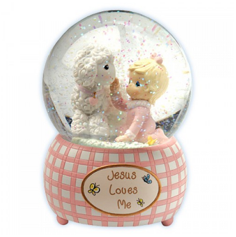 Jesus Loves Me - Girl Musical Water Globe