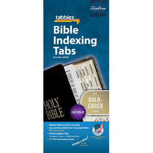 Gold Bible Tabs - Old and New Testaments