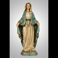"4"" Our Lady of Grace figurine"