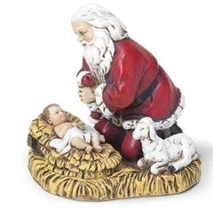 "2.5"" kneeling Santa figurine ornament"