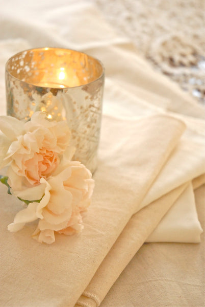 Linen Muslin Table Runner and Napkins