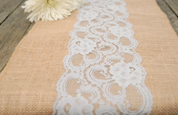 Vintage Lace and Burlap Runners