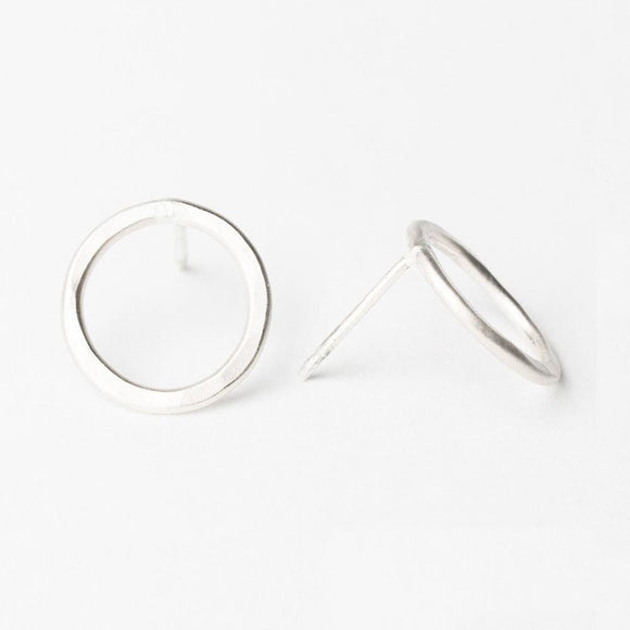 E109 - Medium Circle Post Earring