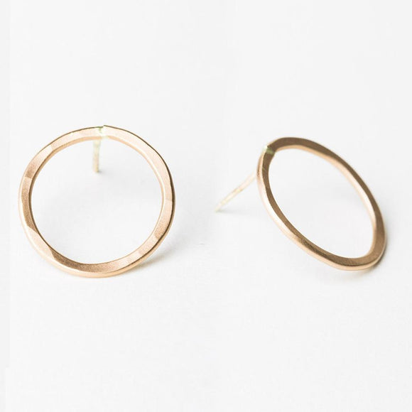 E110 - Large Circle Post Earring