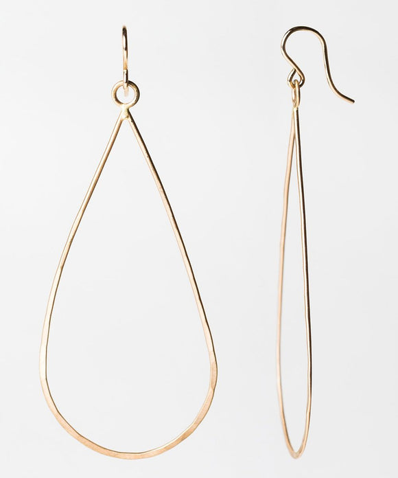 E115 - Long Thin Teardrop Earring