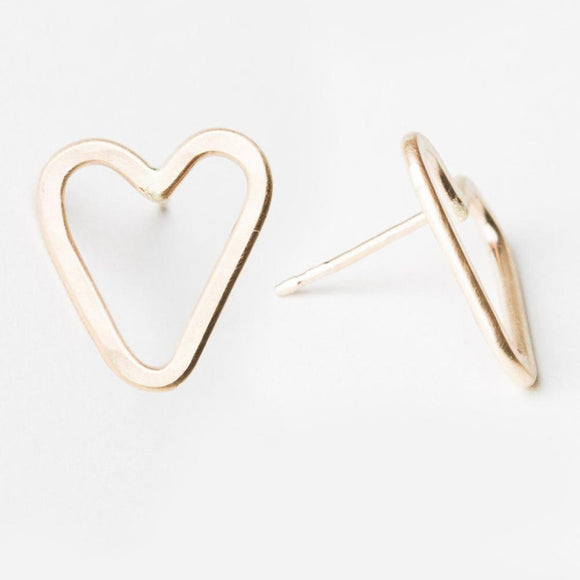 E124 - Heart Post Earring