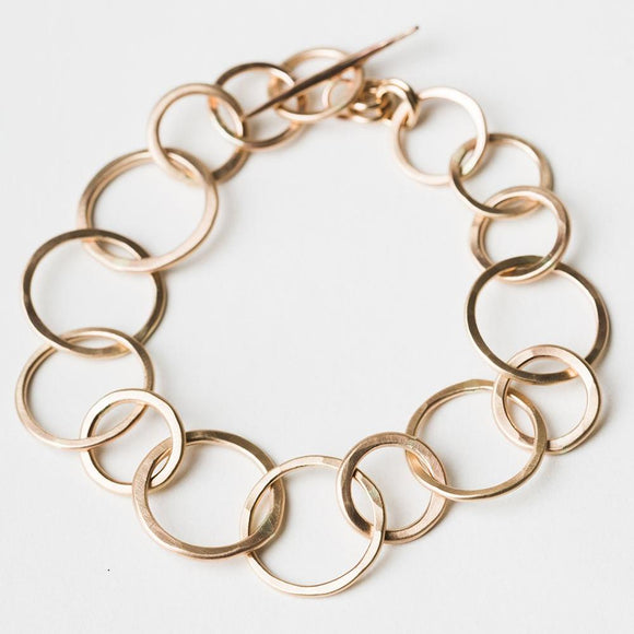 B302 - Links Bracelet with Toggle Clasp