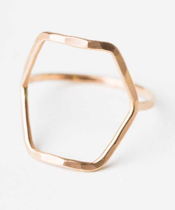 R413 - Forged Hexagon Ring