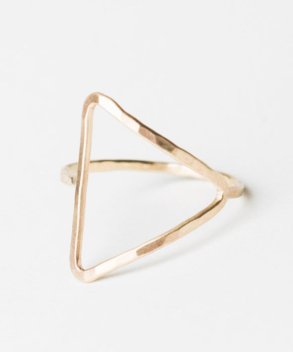 R417 - Forged Triangle Ring