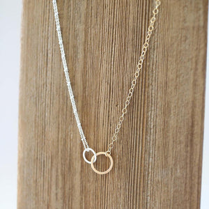 N201 - Double hoop necklace