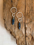 E2001 - ss forged infinity shape with kyanite earrings