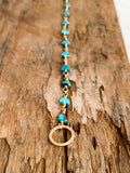 B2003 - gf triangluar shaped turquoise link bracelet