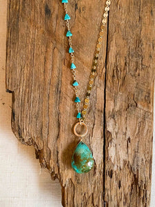 N2003 - gf asymetrical turquoise necklace