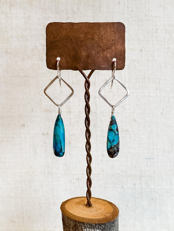 E2012 - ss chrysocolla drop earrings