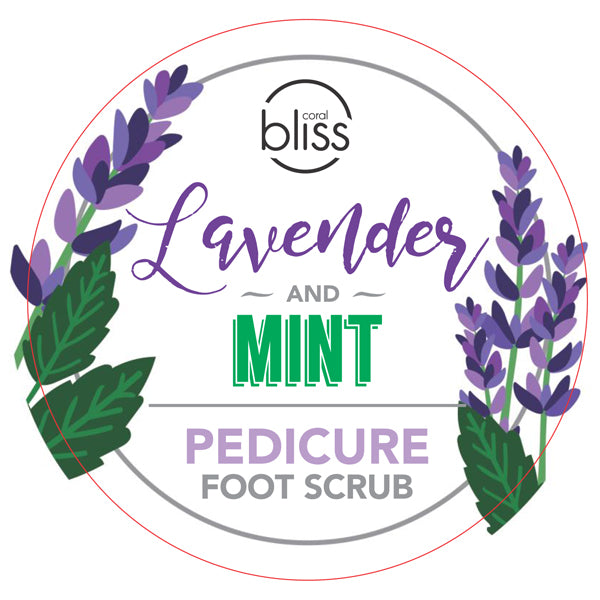 Lavender&Mint Pedicure Foot Scrub - 500 mL