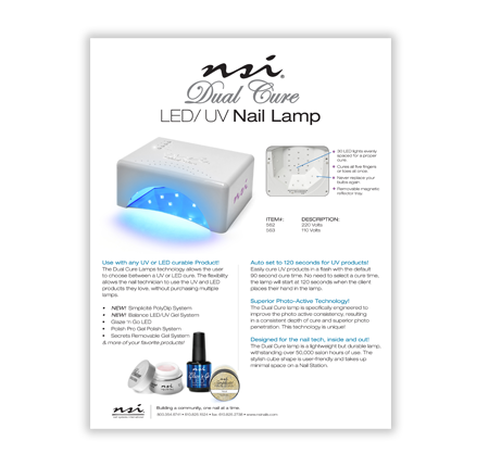 LED / UV Dual Cure Lamp