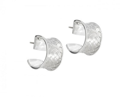 Closed Weave Huggie Hoop Earrings