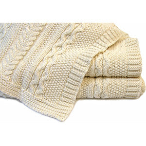 Classic Irish Knit Blanket