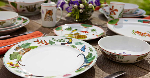 Rainforest Porcelain Dinnerware by Lynn Chase