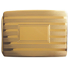 Gold Plate Etched Buckle