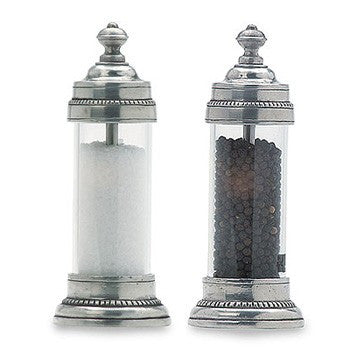 Toscana Salt and Pepper Mills By Match Pewter