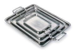 Rectangular Tray With Handles By Match Pewter