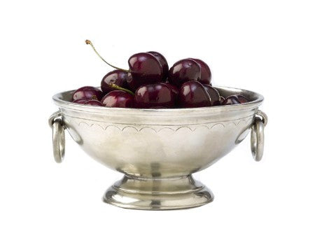 Deep Footed Bowl with Rings By Match Pewter