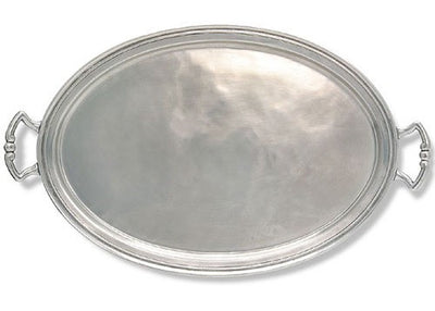 Oval Tray With Handles By Match Pewter